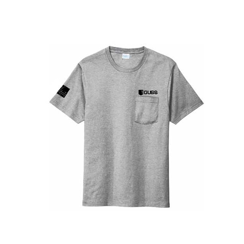 Men - Port & Company Pocket Tee-grey
