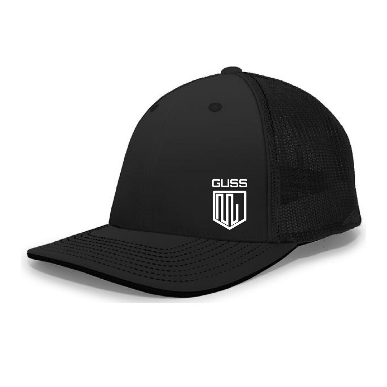 Pacific Headwear Trucker Flexfit® Cap - Black
