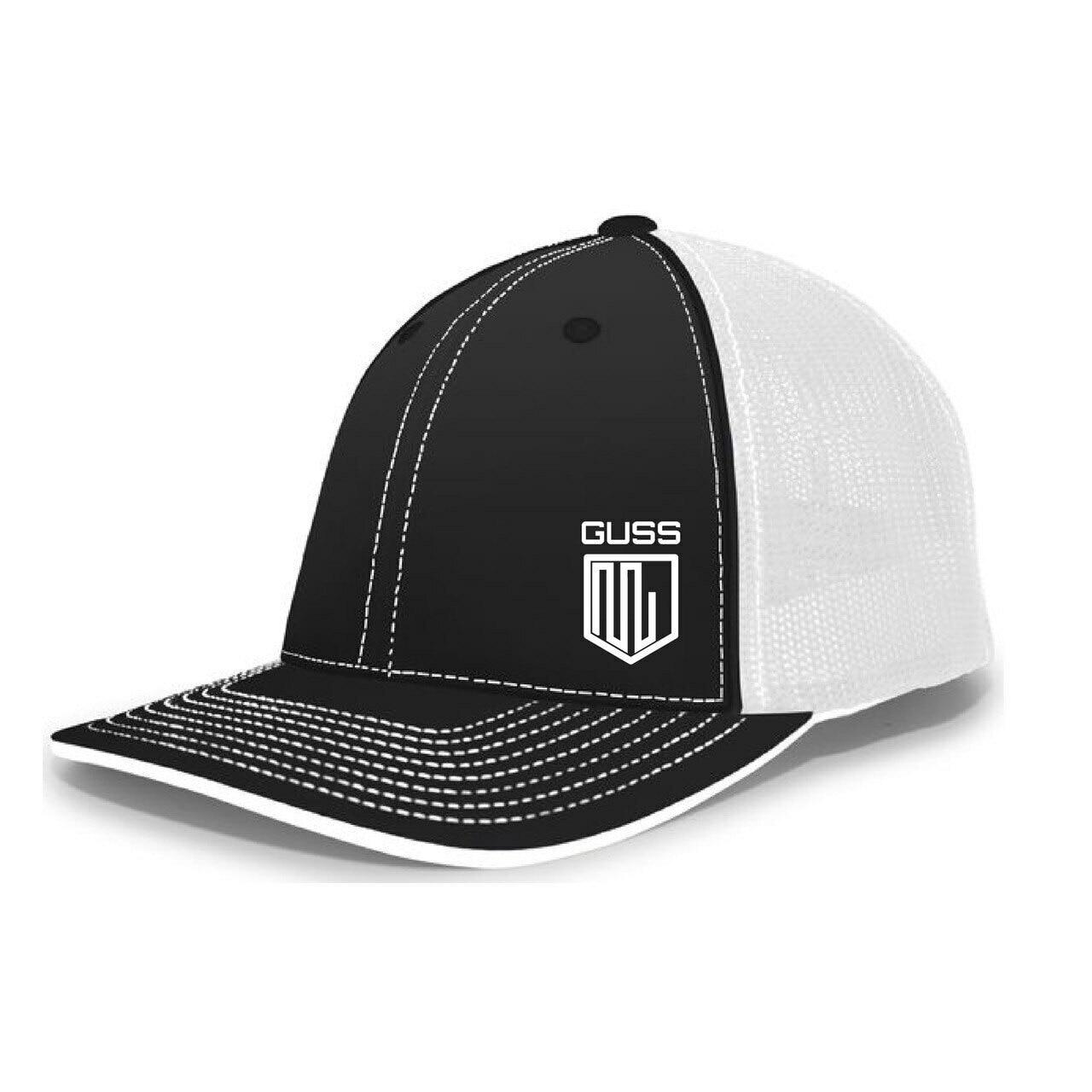 Pacific Headwear Trucker Flexfit® Cap - Black & White