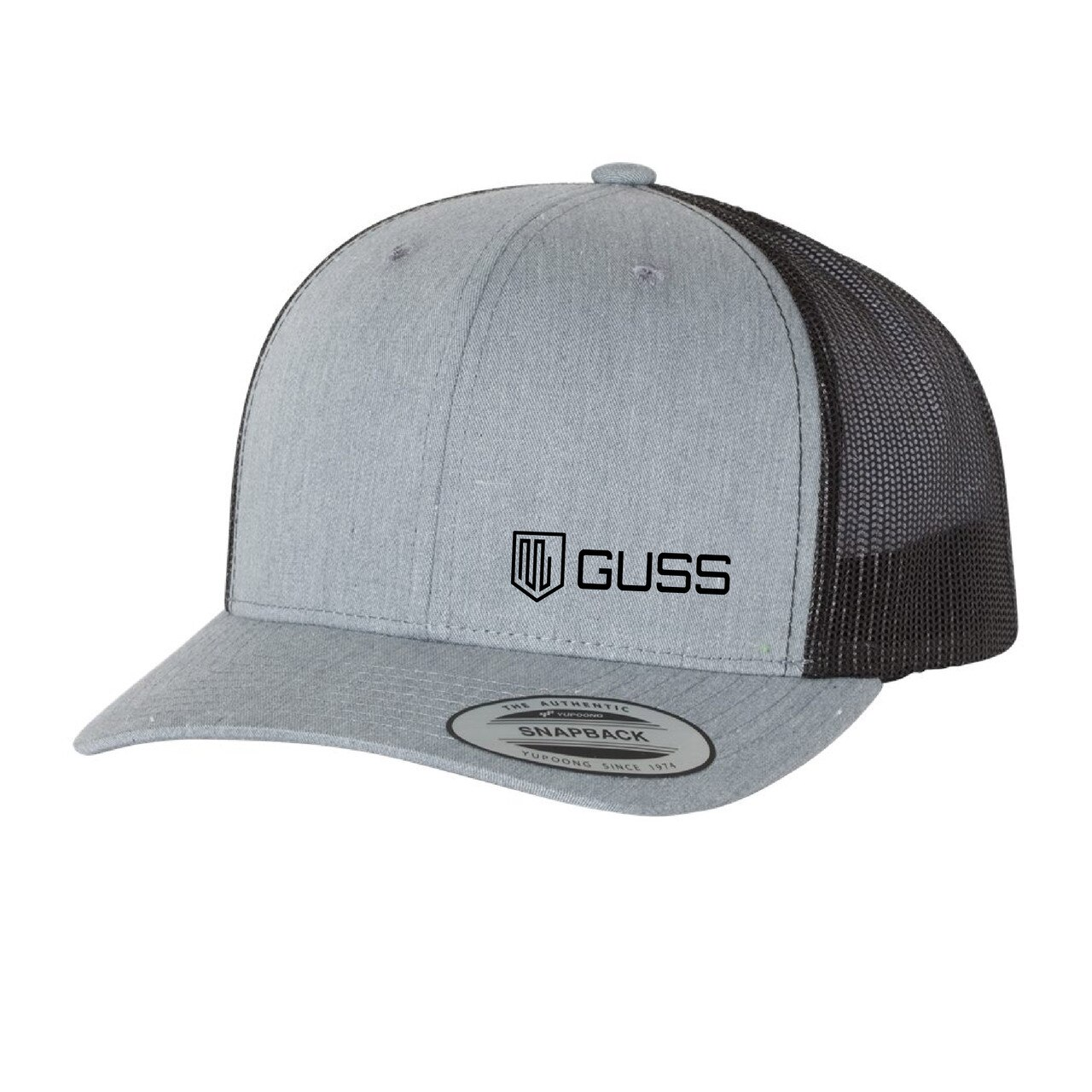 Adult Retro Trucker Cap, Snap Back - Heather / Black OS