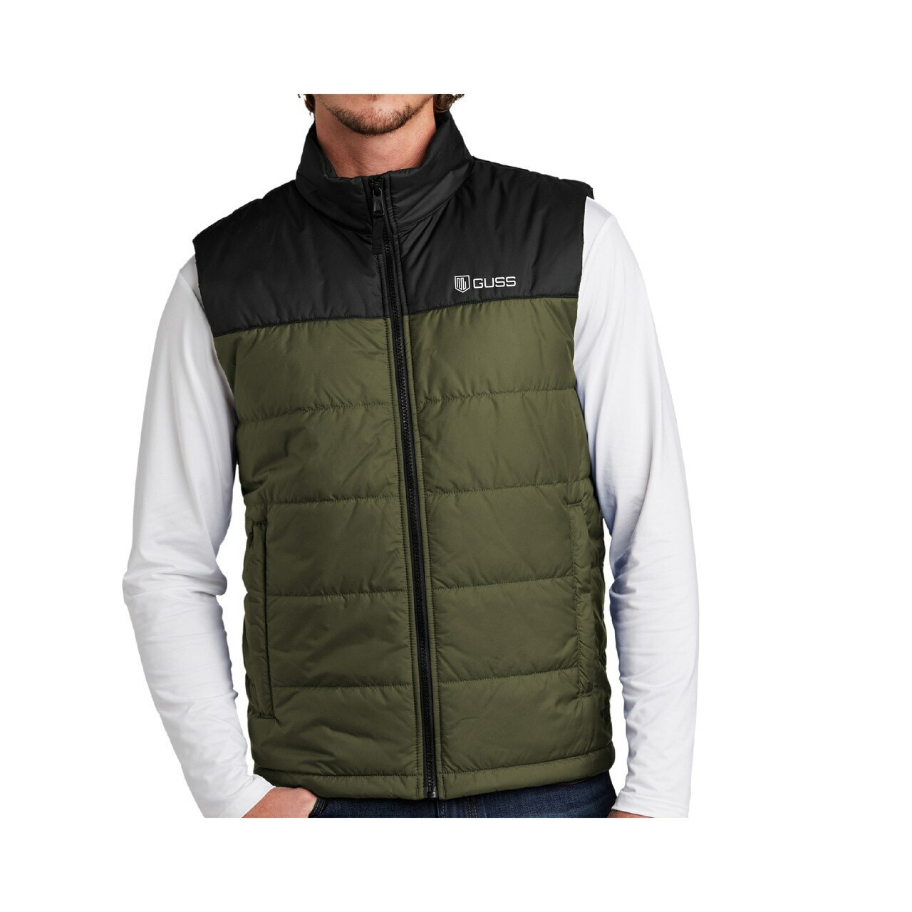 Men - North Face Everyday Packable Puffy Vest - Burnt Olive Green