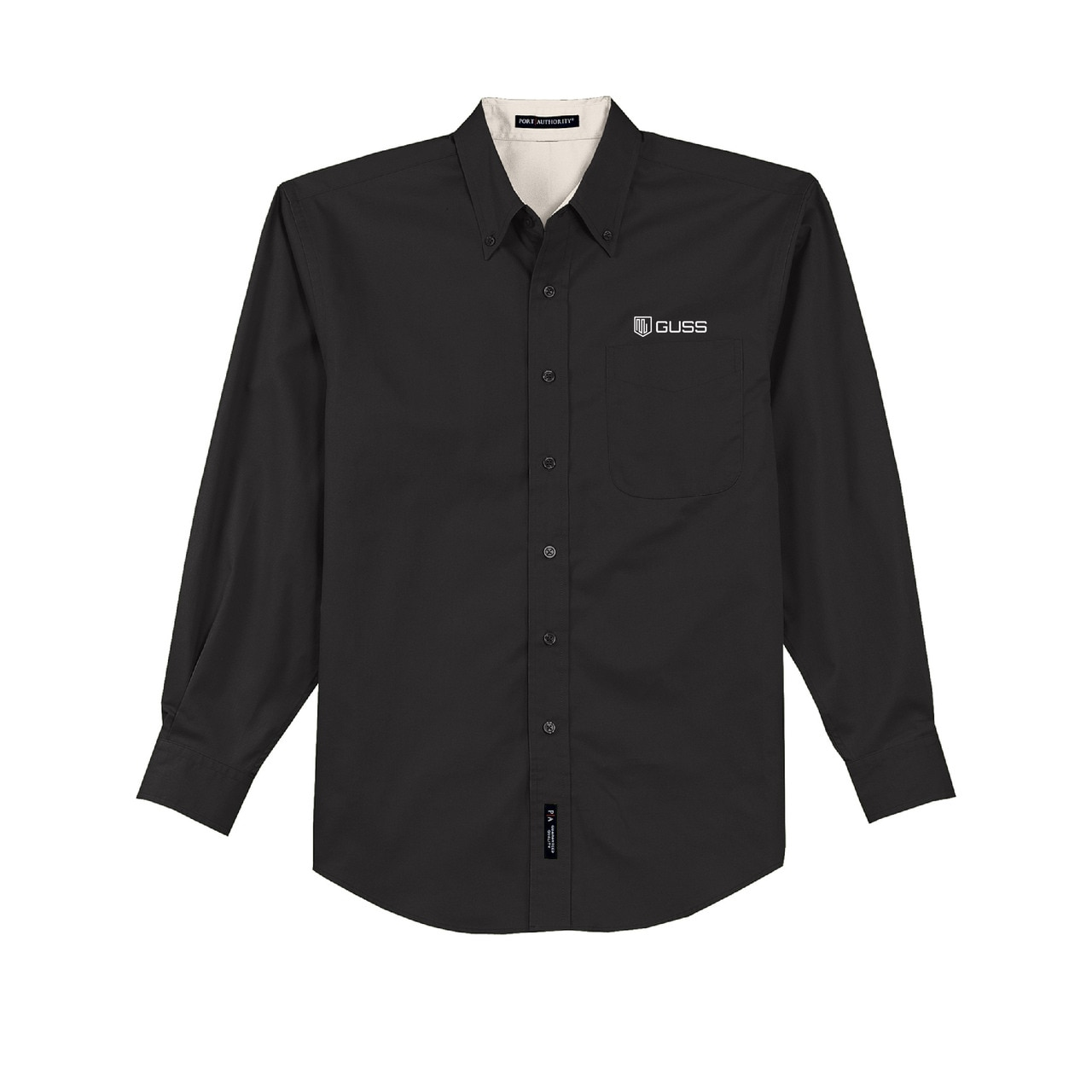 Men - TALL - Port Authority Long Sleeve Easy Care Shirt - Black